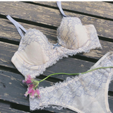 Peach Rose Dusty Blue Underwire Bra