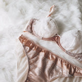 Sweet Pea Rose Pink Silk Bikini