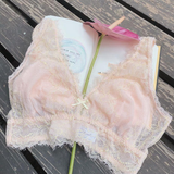 Peach Rose Pink Long Bralette
