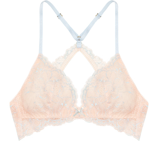 Lilac Sky Pink Triangle Bralette