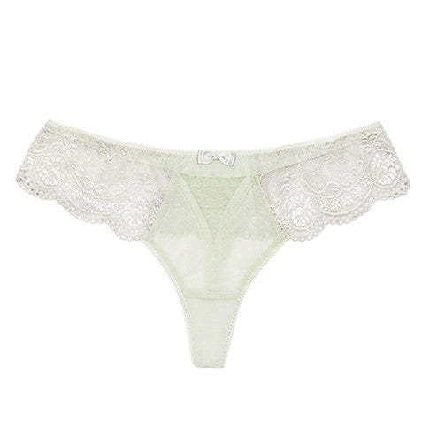 Floret Love Macaroon Green Thong