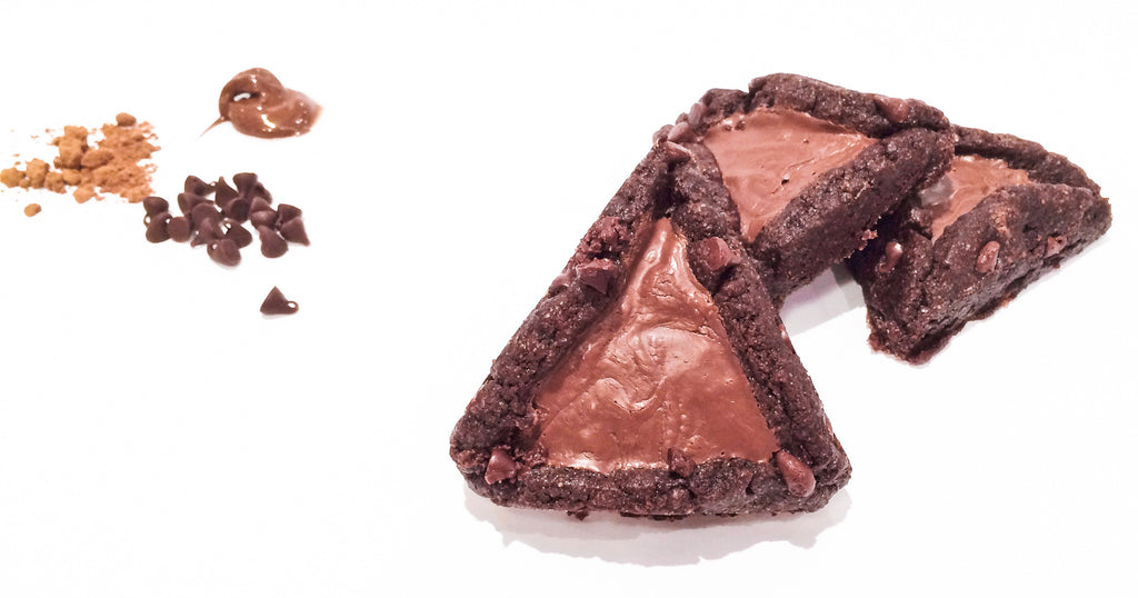 Chocolate Chocolate Chip Hamantaschen - Chocolate Homeys