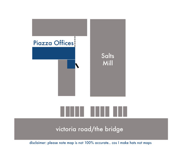 Map of Piazza Offices Location at Salts Mill