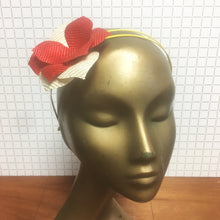 Red & Yellow Straw Flower Headpiece