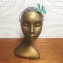 Mint & Blue Straw Flower Headpiece