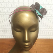 Mint, Purple & Magenta Straw Flower Headpiece