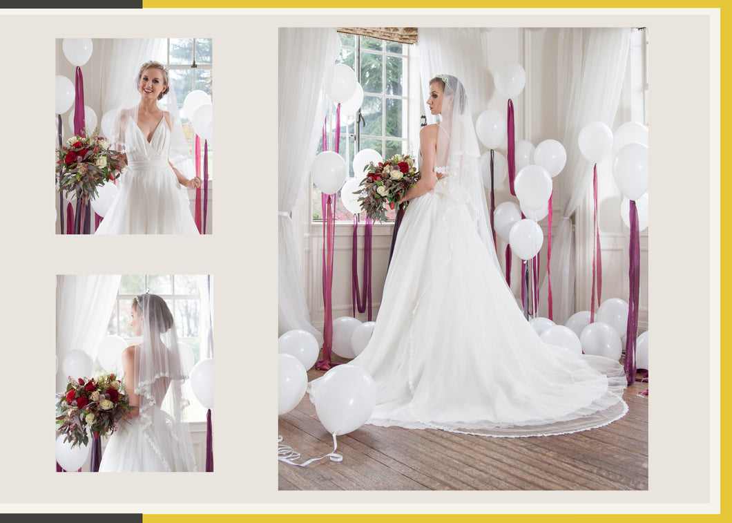 Chapel Length Veil with Blusher