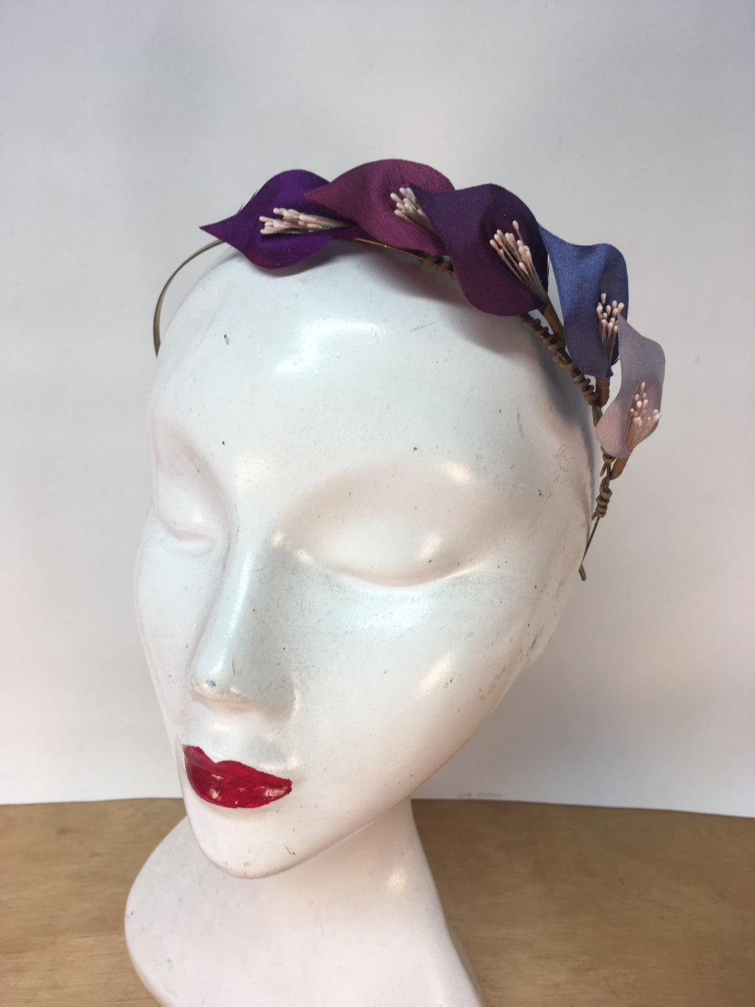Five Purples Ombré Colour Lily Headband