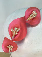 Hot Pink and Ivory Colour Lily Headband