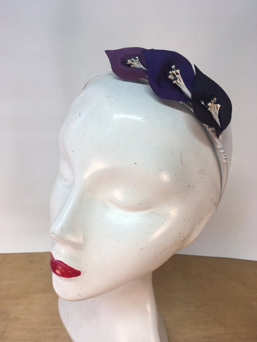 Dark Purple Ombré Colour Lily Headband