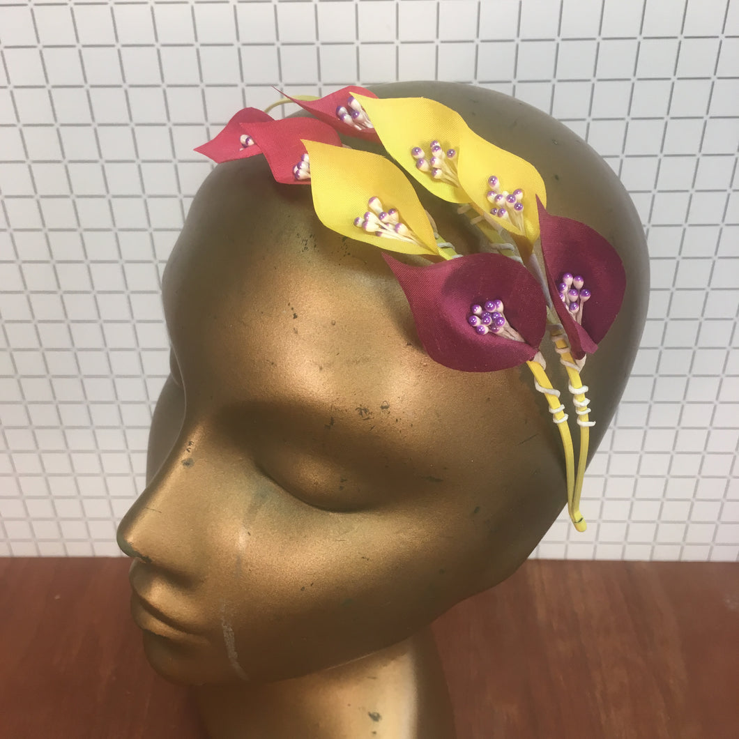 Pink and Yellow Headpiece