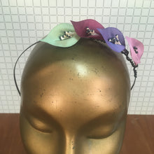 Pink, Violet & Mint Headpiece