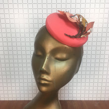 Neon Pink Hat with Orange Lily Branch