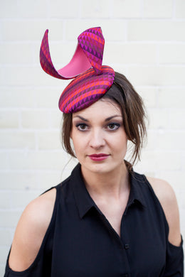 Hot Pink Penelope Hat with Pink Couture Pleather Curl
