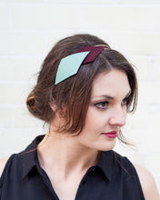 Mint, Maroon and Copper headband