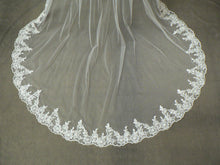 Seraphina - Cathedral Length Veil with Blusher & Bespoke Lace Edge