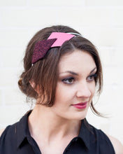 Pink, Maroon and White Headband