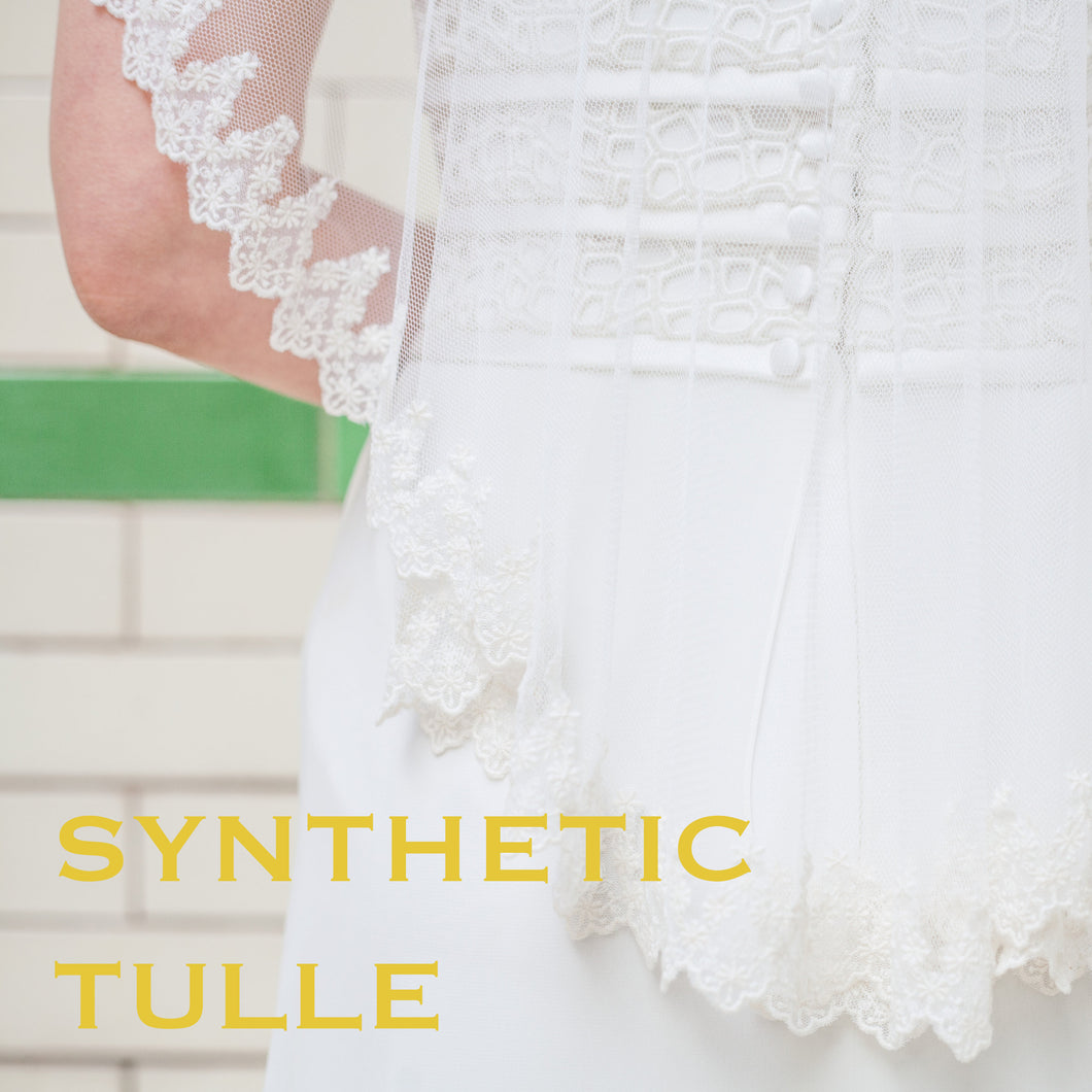 Medium Ivory Synthetic Tulle