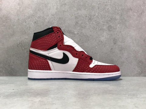 Image of AJ 1 Retro High Spider-Man Origin Story Shoes Sneakers