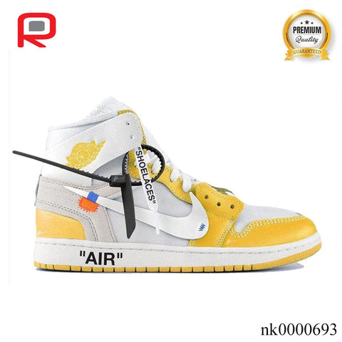 Image of AJ 1 Retro High OW Canary Yellow Shoes Sneakers