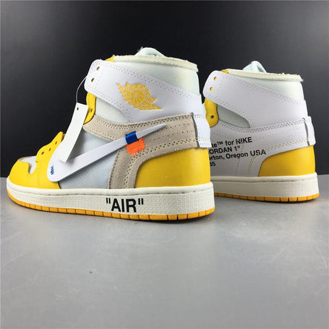 AJ 1 Retro High OW Canary Yellow Shoes Sneakers
