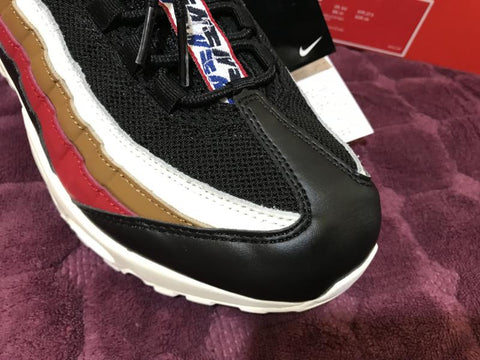 Image of AM 95 Pull Tab Black Brown Shoes Sneakers