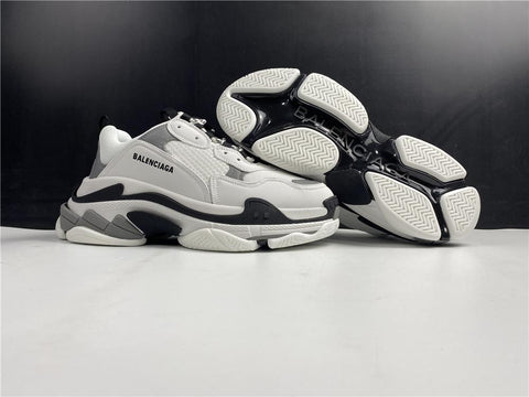 BLCG Triple S Grey White Shoes Sneakers