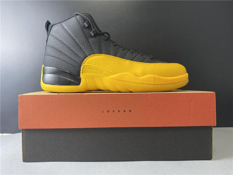 Image of AJ 12 Retro Black University Gold Shoes Sneakers