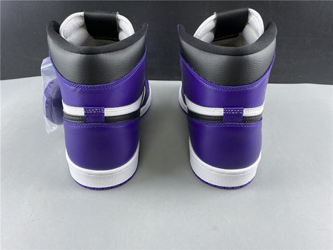 Image of AJ 1 Retro High Court Purple White Shoes Sneakers