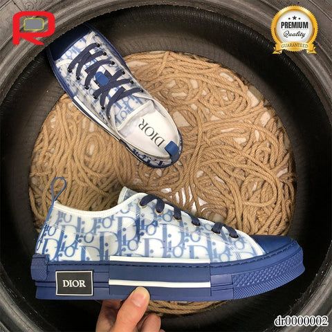 CD B23 Low Top Blue Oblique Shoes Sneakers