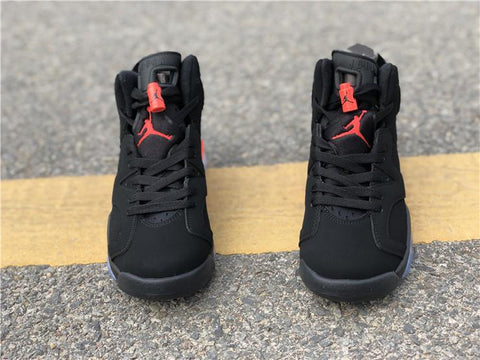 Image of AJ 6 Retro Black Infrared 2019 (GS) Shoes Sneakers