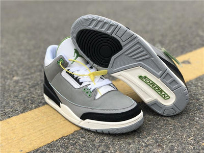 AJ 3 Retro Chlorophyll Shoes Sneakers