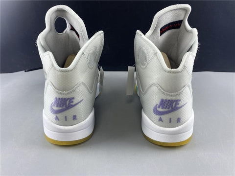 Image of AJ 5 Retro OW Grape Shoes Sneakers