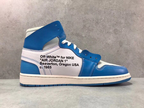Image of AJ 1 Retro High OW University Blue Shoes Sneakers