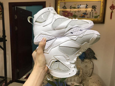 Image of AJ 7 Retro Pure Platinum Shoes Sneakers