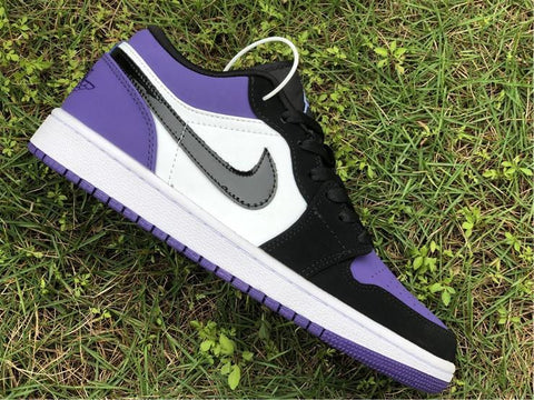 Image of AJ 1 Low Court Purple (GS) Shoes Sneakers