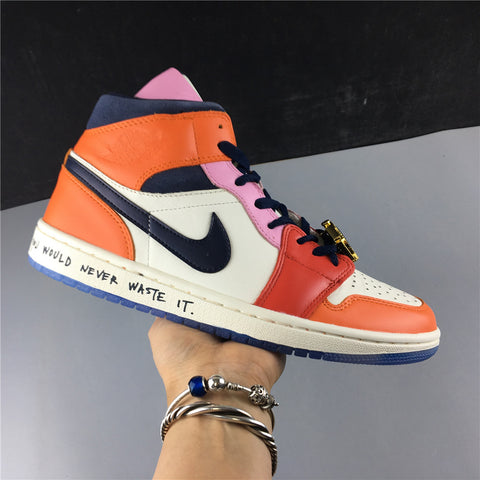 Image of AJ 1 Mid SE Fearless Melody Ehsani (W) Shoes Sneakers