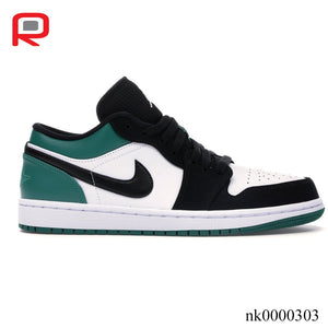 AJ 1 Low White Black Mystic Green Shoes Sneakers