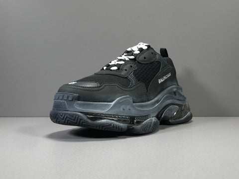 BLCG Triple S Clear Sole Black Shoes Sneakers