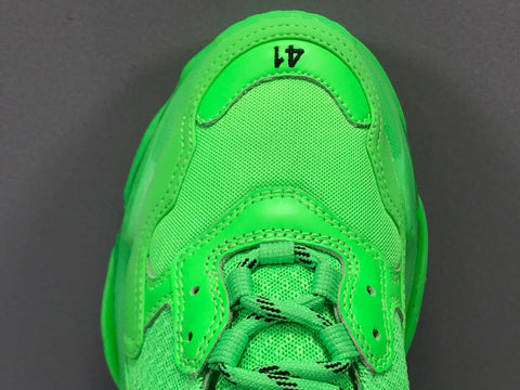 Image of BLCG Triple S Neon Green Clear Sole Shoes Sneakers