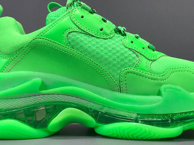 BLCG Triple S Neon Green Clear Sole Shoes Sneakers