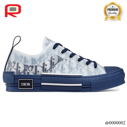 Image of CD B23 Low Top Blue Oblique Shoes Sneakers