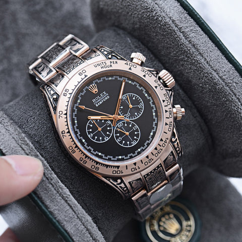 Image of Mature Men's Signature High-End Mechanical Watch For Rolex- Accessories