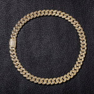 Iced Out CZ Cuban Chain Necklace (13mm)