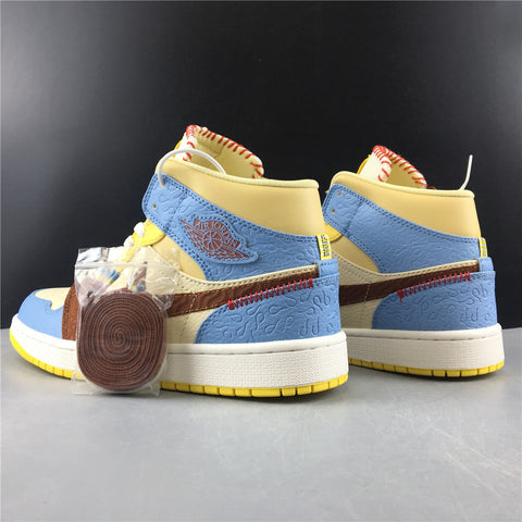 Image of AJ 1 Mid SE Fearless Maison Chateau Rouge Shoes Sneakers