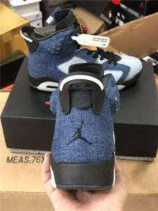 AJ 6 Retro Washed Denim Shoes Sneakers