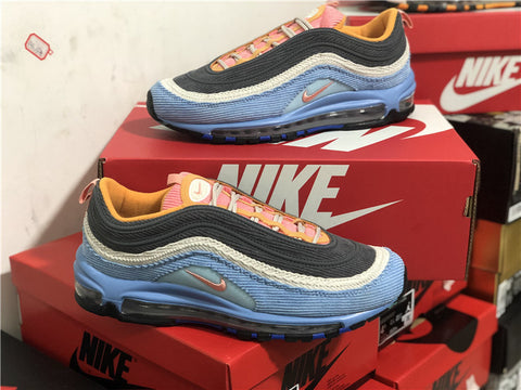 Image of AM 97 Corduroy Light Blue Shoes Sneakers