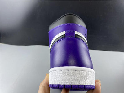 AJ 1 Retro High Court Purple White Shoes Sneakers