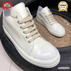 Rick Owen Drkshdw Ramones All White Shoes Sneakers