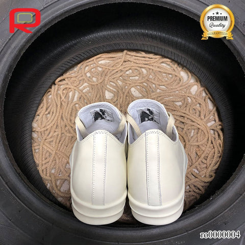 Image of Rick Owen Drkshdw Ramones All White Shoes Sneakers